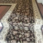 Stair Tread Rugs with Transitional Staircase and  Commercial  Gold  Runners & Stair Runners  Diamond Patterned  Staircase Design