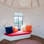 Standard Rug Sizes with Contemporary Kids and  Rafters  Secret Door  Vaulted Ceiling  Window Seat  Wood Paneling