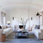 Standard Rug Sizes with Transitional Living Room and  Fireplace  Coffee Table  Modern Spanish  Upholstered Sofas  Living Room