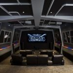 Star Wars Rug with Traditional Home Theater and  Star Wars Room Theme  Star Wars Home Theater  Themed Theater Room  Space Theater  Starship Theater