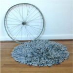 T Shirt Rug with Eclectic Spaces and  Talking Squid  Unique Home Accessories  Shaggy Rug  Large Rug for Living Room  White