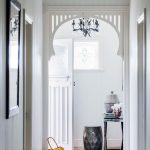 The Dump Rugs with Beach Style Hall and  Gray Rug  Decorated Glass  Stained Glass     Crown Molding  Shiplap Walls