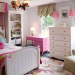 The Dump Rugs with Traditional Kids and  White Bed  My Houzz  Floral Pillow  Checkered Armchair  Pink Throw