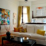 The Old Rugged Cross Chords with Victorian Bedroom and  Creative  White Sofa  Bold  Yellow Curtain     Wood Floor