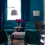 The Rug Company with Eclectic Living Room and  Area Rug  Tripod Lamp  Colorful  Mosaic Area Rug  Floor Lamp