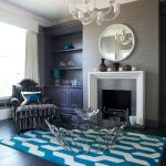 The Rug Company with Traditional Living Room and  Coffee Table  Larsen Wallpaper  Chesneys Odeon Fire Surround and Stainless Steel Slips  Black Wenge Flooring  Julian Chichester Furniture