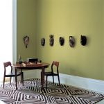 The Rug Company with Tropical Dining Room and  Contemporary  Gren Wall  Masks  Monochromatic  Monochrome