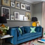 The Rug Doctor with Transitional Living Room and  Art Ledge  Sofa  Yellow Table Lamp     Pattern  White Moulding