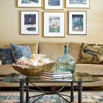 The Rug Market with Shabby Chic Style Living Room and  Iron  Chair  Books  Coffee Table  Demijohn