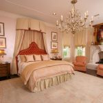 The Rug Market with Traditional Bedroom and  Roman Shades  Custom Bedding  Upholstered Headboard     Baldachino  Bed Draperies