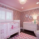 The Rug Market with Traditional Nursery and  Baby  Pink Crib Bedding  Pink  White Dresser  Chevron