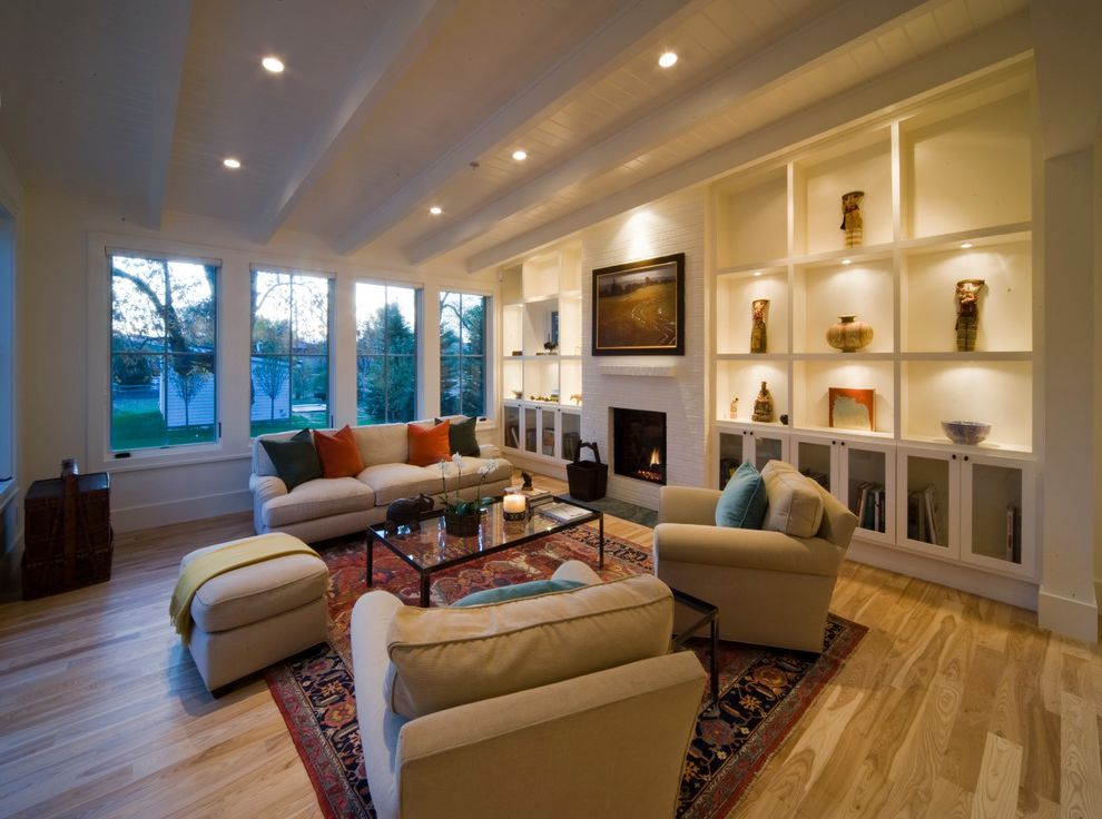 Traditional Area Rugs With Farmhouse Living Room And Red Traditional