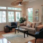 Tropical Area Rugs with Beach Style Living Room and  Double French Door  Living Room Beige Sofa  Tropical Area Rug  Beach Style  Beach Theme Decorating