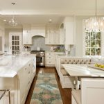 Washable Kitchen Rugs with Traditional Kitchen and  Divided Lights  Banquette  Breakfast Nook  Transitional  Kitchen Island