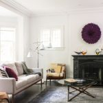 What is Rugged Individualism with Contemporary Living Room and  Cushions  Purple  Black and White  Grey  Standing Lamp