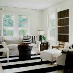 What is Rugged Individualism with Shabby Chic Style Living Room and  Side Table  Art  Window Trim     Black & White  Louis Chair
