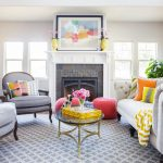 Yellow Chevron Rug with Contemporary Living Room and  Gray Rug  Colorful  Gray Chair  Living Room		 					 		  		  		Accent Color