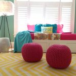 Yellow Chevron Rug with Mediterranean Bedroom and  Young     Military Family  Navy Family  Comfortable  Fresh